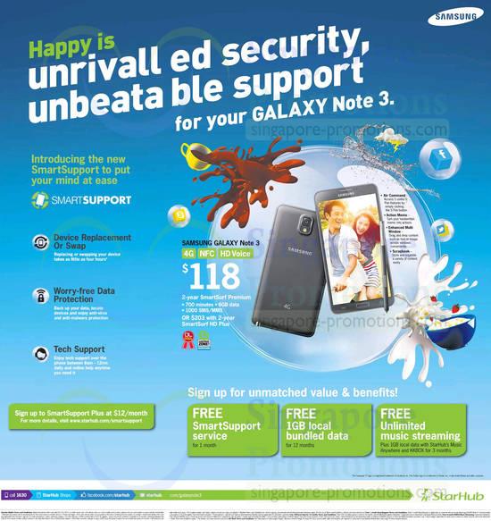 Starhub Samsung Galaxy Note 3, SmartSupport Plus