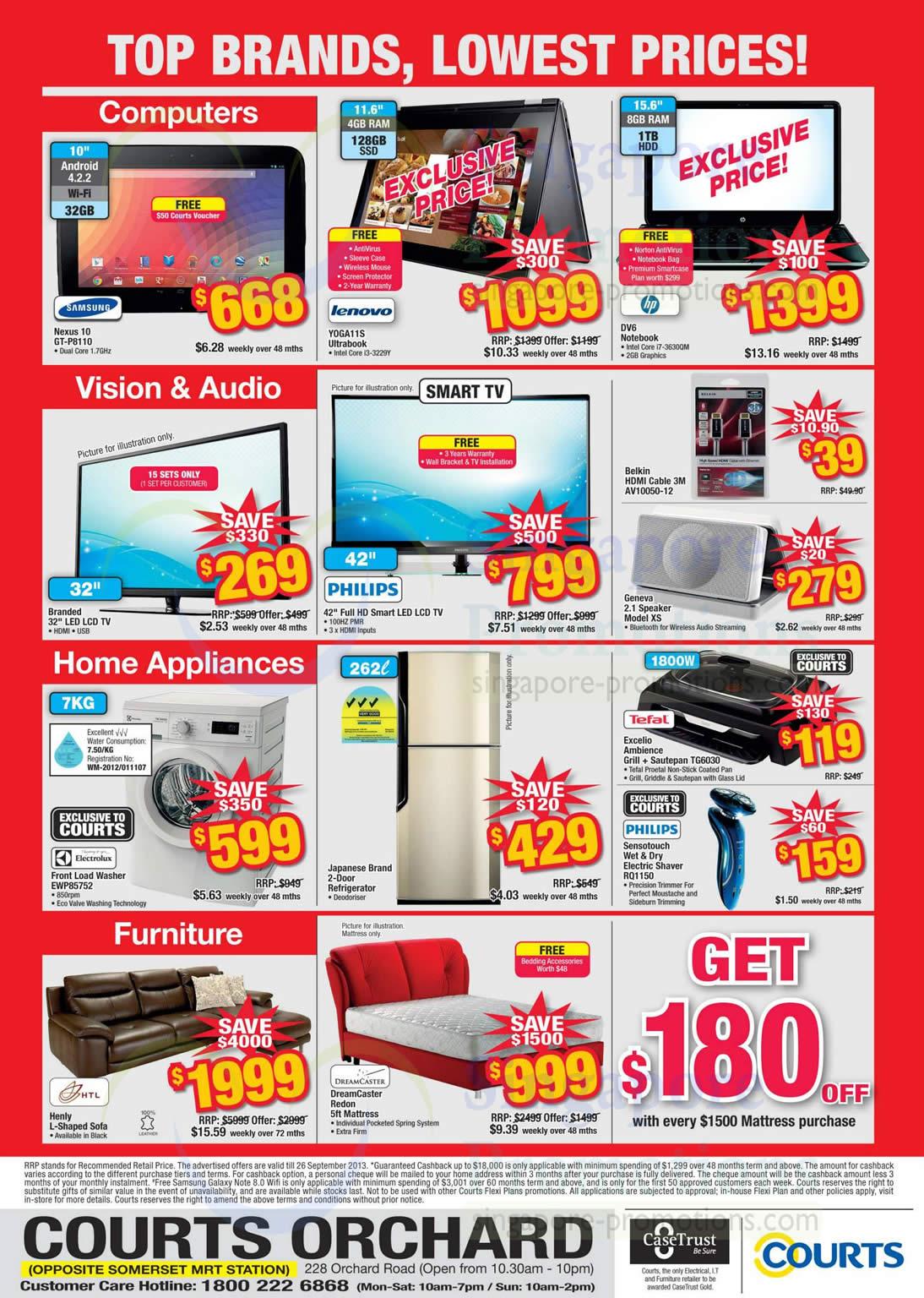 Tablets, Computers, Appliances, Furniture