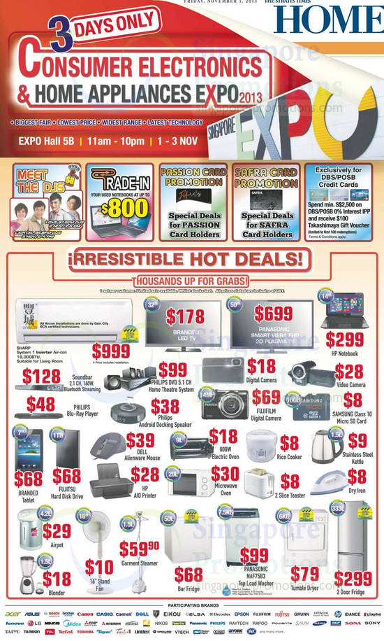 1 Nov Hot Deals Air Condiitoner, Washer, Fridge, Notebook, Electronics