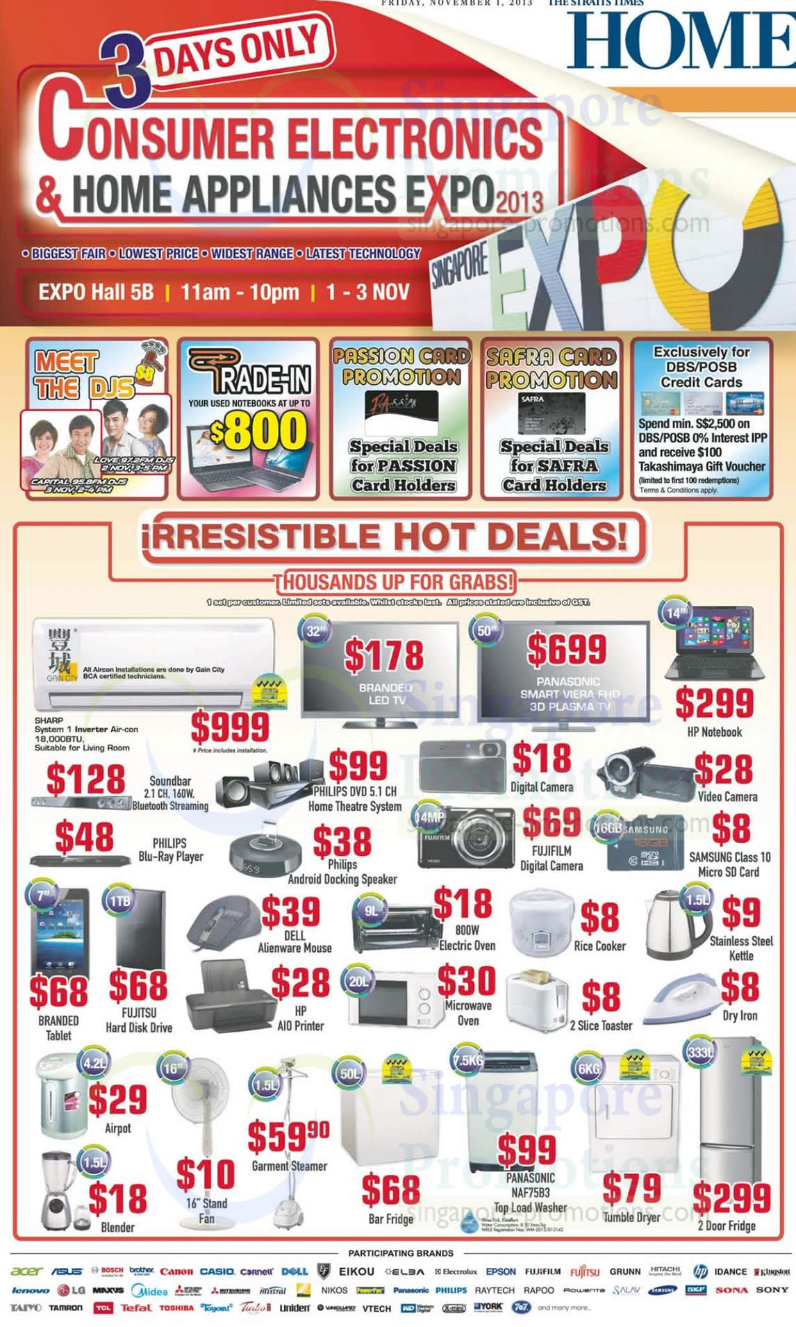 1 Nov Hot Deals Air Condiitoner, Washer, Fridge, Notebook, Electronics