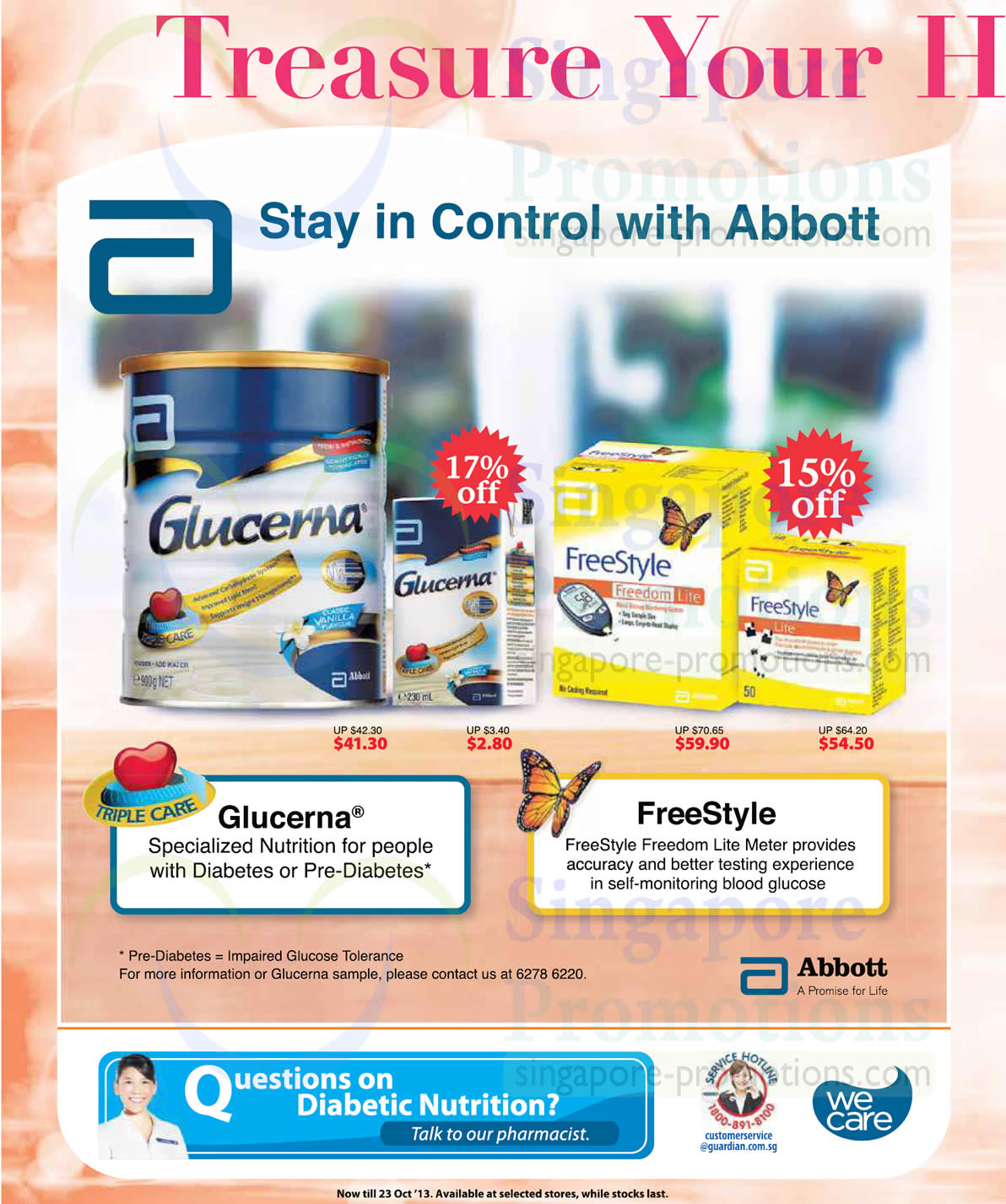 Abbott FreeStyle Freedom Lite Meter and Abbott Glucerna Formula