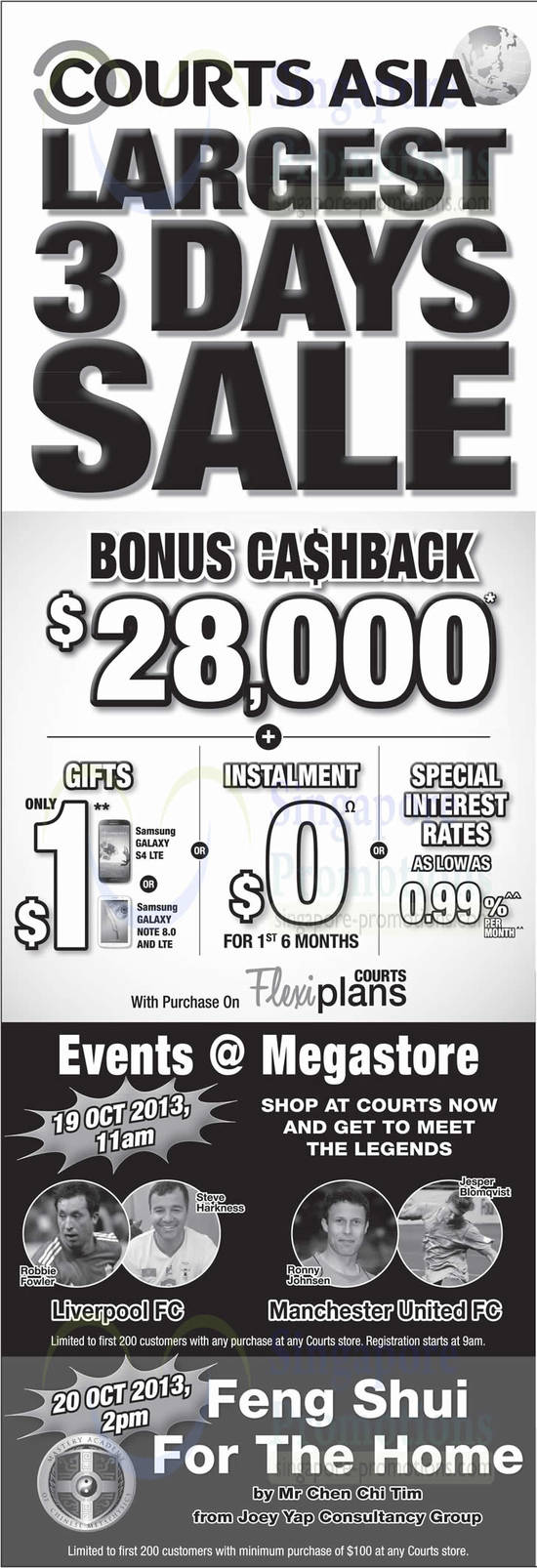 Cashback, Events, Feng Shui