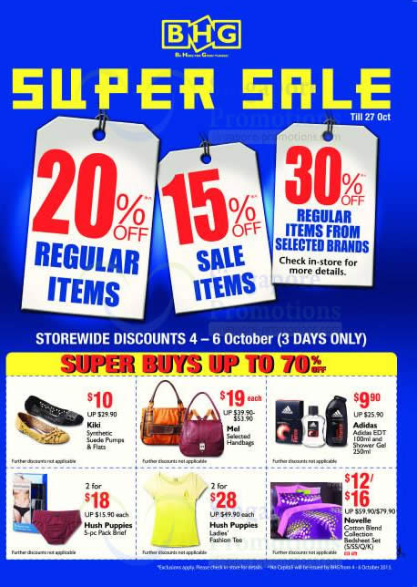 Discounts, Super Buys