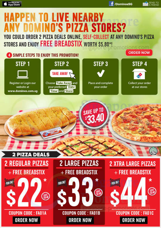 Get National & Local Dominos Pizza Coupons for Carryout or.