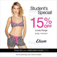 Read more about Etam 15% Off Lovely Range For Students 26 Sep - 9 Oct 2013