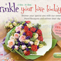 Read more about Far East Flora 15% Off Hand Bouquets 1 - 31 Oct 2013
