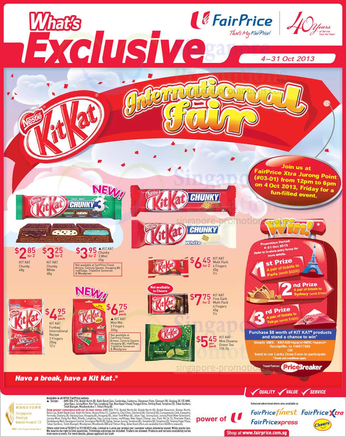 NTUC Fairprice Groceries, Kit Kat, Philips LED Lightings ...