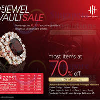 Read more about Lee Hwa Jewellery 70% OFF SALE @ Mandarin Orchard Hotel 2 - 4 Nov 2013