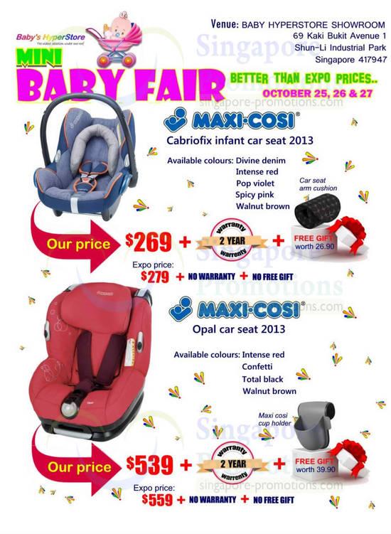 Maxi-Cosi Cabriofix Infant Car Seat 2013, Opal Car Seat 2013