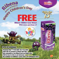Read more about McDonald's FREE Ribena With Happy Meal Purchase 4 - 6 Oct 2013