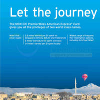 Read more about Citibank NEW Citi PremierMiles American Express Card 21 Oct 2013
