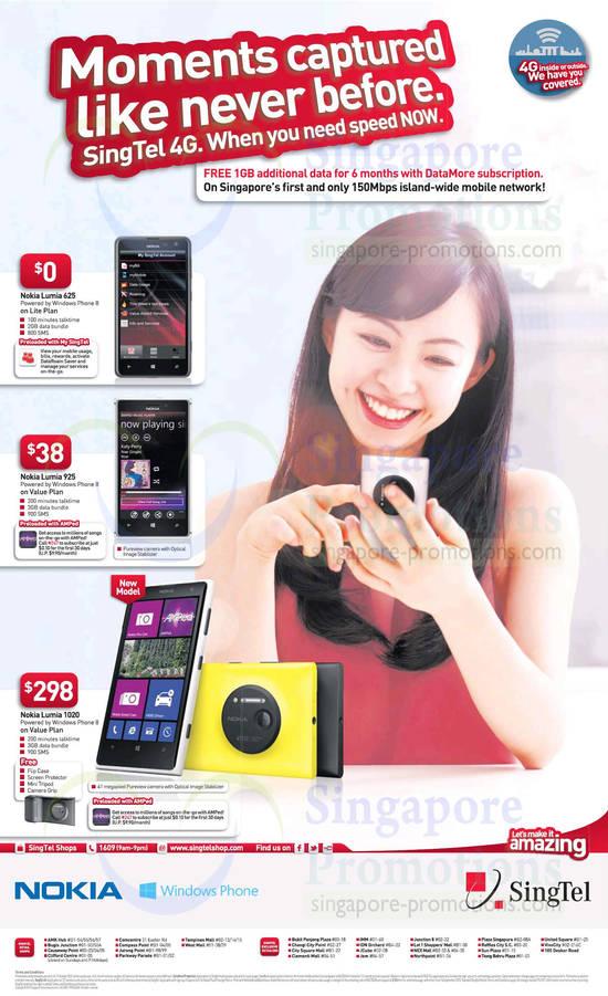 Nokia Lumia 625, Nokia Lumia 925, Nokia Lumia 1020