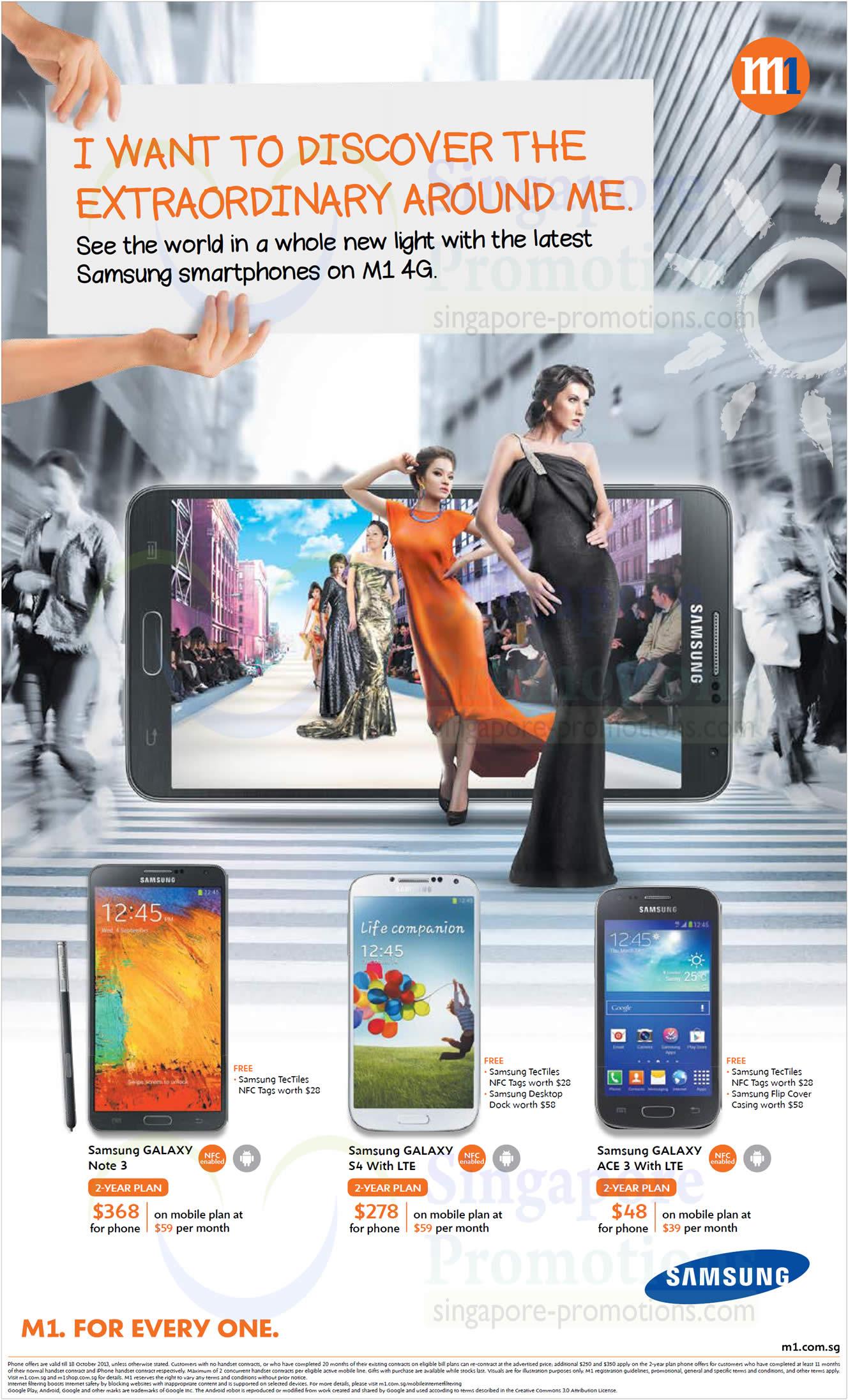 Samsung Galaxy Note 3, Samsung Galaxy S4, Samsung Galaxy Ace 3