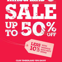 Read more about Timberland Up To 50% OFF SALE (Further Reductions!) @ All Outlets 31 Oct 2013 - 2 Jan 2014