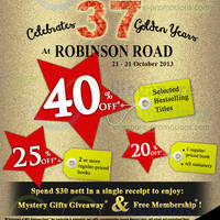 Read more about MPH Bookstores Up To 40% Off Promo @ Robinson Road 21 - 31 Oct 2013