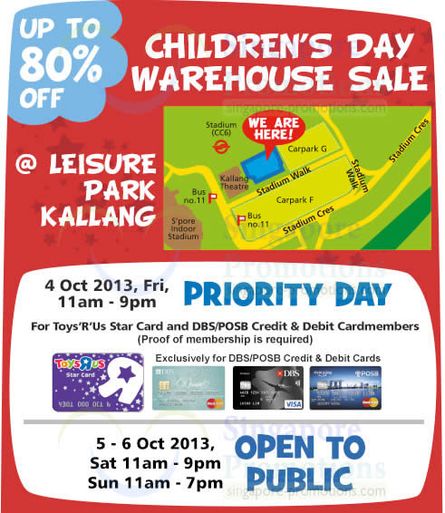 Warehouse Sale Dates, Times, Venue