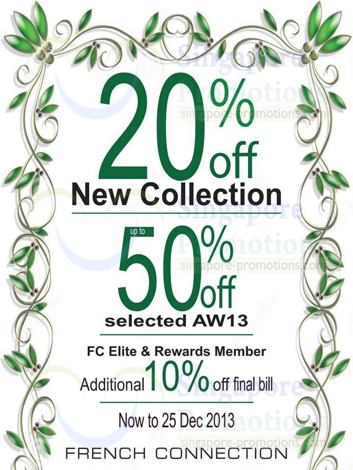 10 Dec FCUK 20 Percent Off New collection