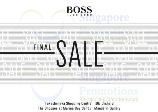 20 Dec Hugo Boss Final Sale