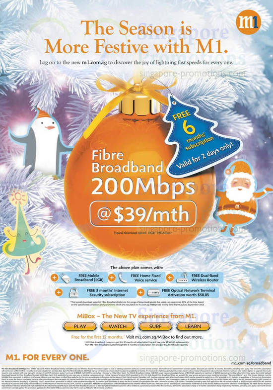 200Mbps Fibre Broadband 39.00, Free 6 Months