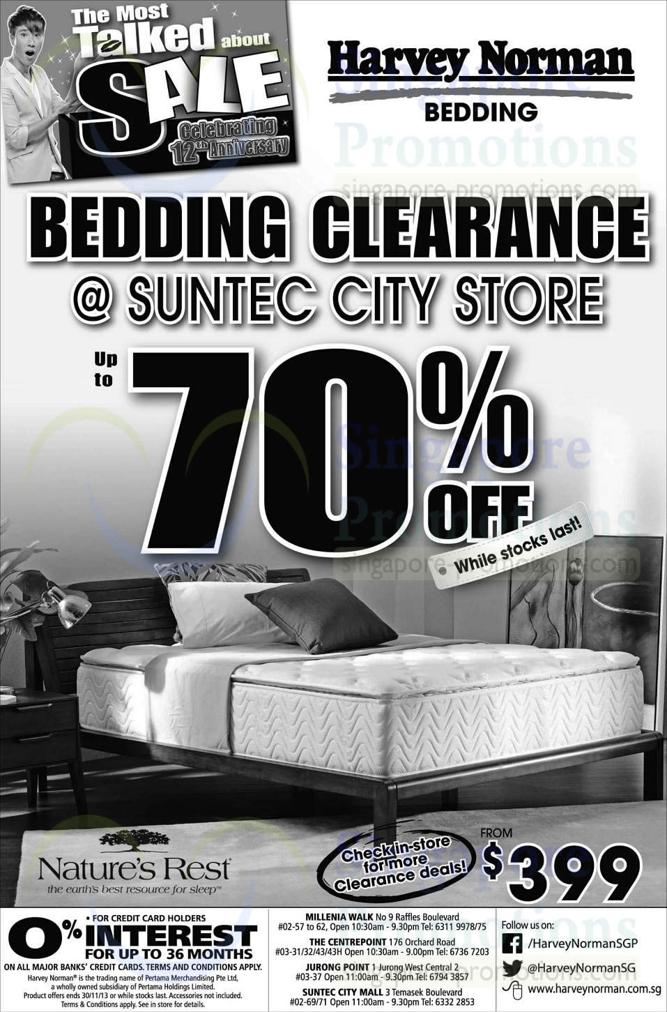 Bedding Clearance at 70 Percent Off