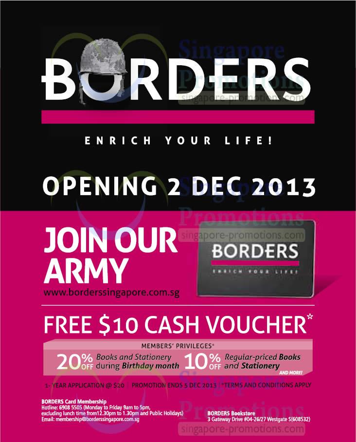 Borders 22 Nov 2013