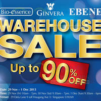 Read more about Ebene, Bio-Essence & Ginvera Warehouse SALE Up To 90% OFF 29 Nov - 1 Dec 2013
