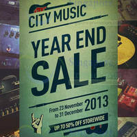 Read more about City Music Year End SALE 2013 23 Nov - 31 Dec 2013