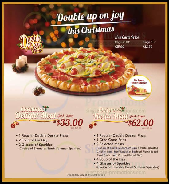 Pizza Hut NEW Double Decker Pizza 21 Nov 2013