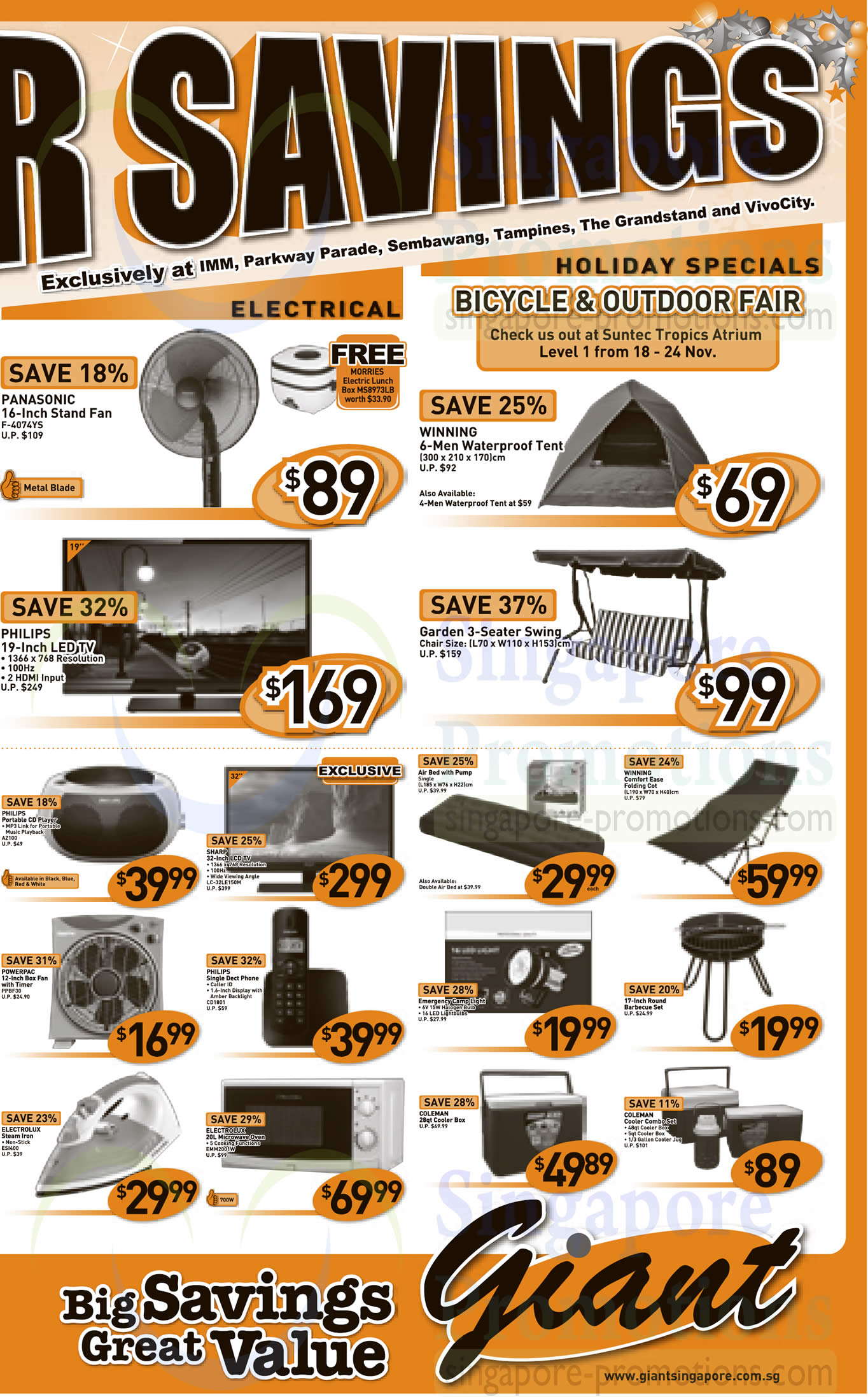 Electrical Applainces, Holiday Specials