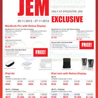 Read more about EpiCentre Exclusive Apple MacBooks & Apple iPad Offers @ Jem 20 - 27 Nov 2013