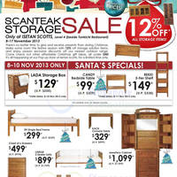 Read more about Scanteak 12% OFF Storage Items SALE @ Isetan Scotts 8 - 17 Nov 2013