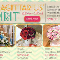Read more about Far East Flora Sagittarius Spirit 15% Off Bouquets Promo 28 Nov - 21 Dec 2013