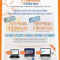 Read more about M1 SITEX 2013 Smartphones, Tablets & Home/Mobile Broadband Offers 28 Nov - 1 Dec 2013