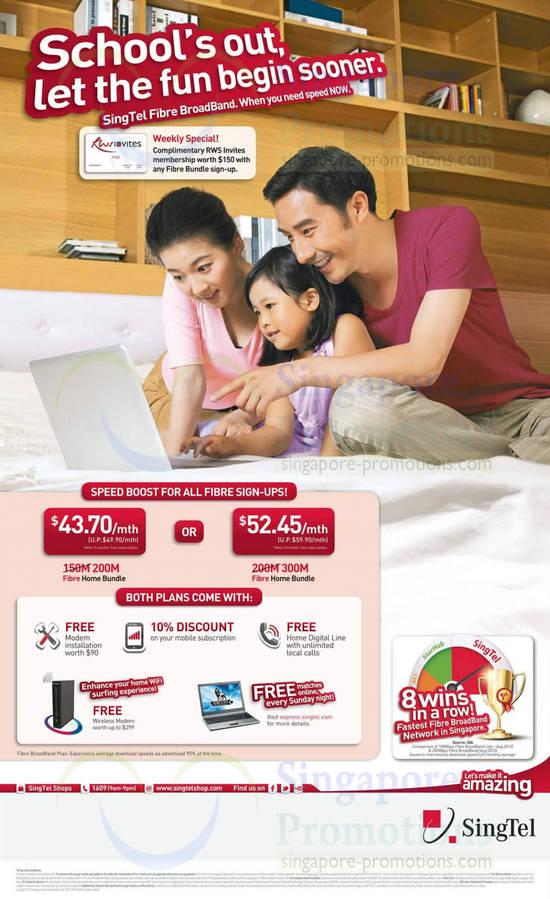 Fibre Broadband 200mbps 43.70, 300Mbps 52.45