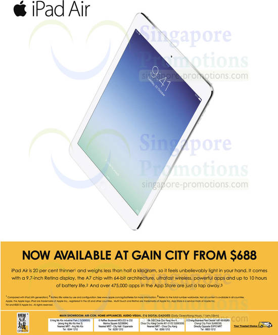 Gain City Apple iPad Air