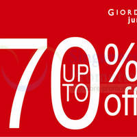 Read more about Giordano Junior Up To 70% OFF SALE @ Isetan Katong 22 - 28 Nov 2013