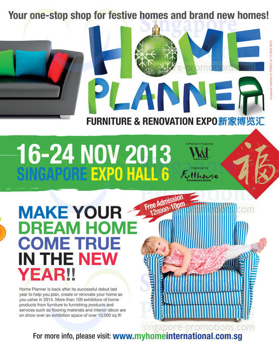 Home Planner Dates, Time, Venue