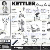 Read more about Kettler Exercise Machines & Gym Equipment Offers 1 Nov 2013