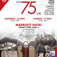 Read more about LovethatBag Branded Handbags Sale Up To 75% Off @ Marriott Hotel 16 - 17 Nov 2013