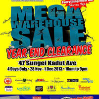 Read more about Novena Mega Warehouse SALE @ Sungei Kadut Ave 28 Nov - 1 Dec 2013