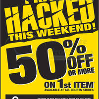 Read more about Courts Price Hacked 50% Off First Item Offers @ All Outlets 16 - 17 Nov 2013