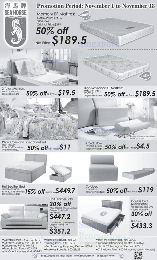 Sea Horse Beds Mattress Amp Sofa Promo Offers 1 18 Nov 2013