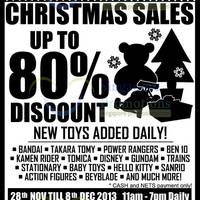 Read more about Branded Toys Warehouse SALE Up To 80% Off 28 Nov - 8 Dec 2013