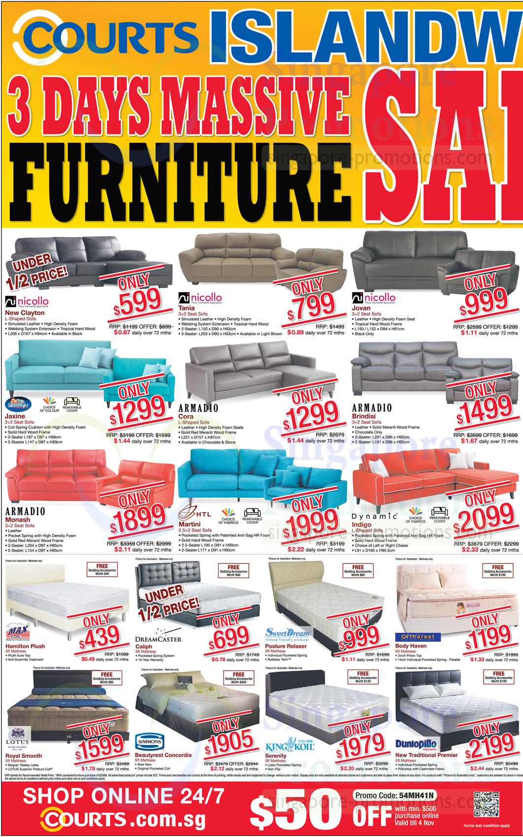 Courts Massive Sale All Outlets 2 4 Nov 2013