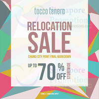 Read more about Tocco Tenero Up To 70% OFF Relocation SALE @ Changi City Point 1 Nov - 14 Dec 2013