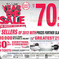 Read more about Courts Year End Sale 23 - 25 Nov 2013