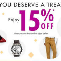 Zalora 15% OFF Storewide Coupon Code 1 - 31 Oct 2014