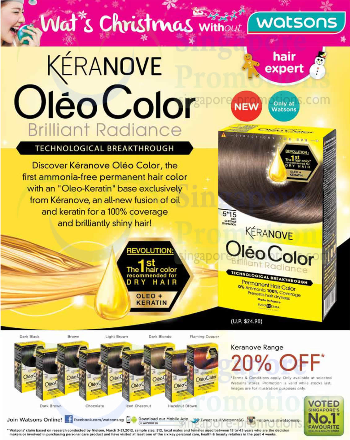 20 Percent Off Keranove Oleo Hair Colour