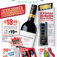 Read more about Cold Storage Jacob's Creek Wines & Other Offers 13 - 18 Dec 2013