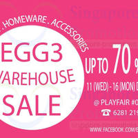 Read more about Egg3 Warehouse SALE Up To 80% OFF @ Tong Yuan Industrial Building 11 - 16 Dec 2013